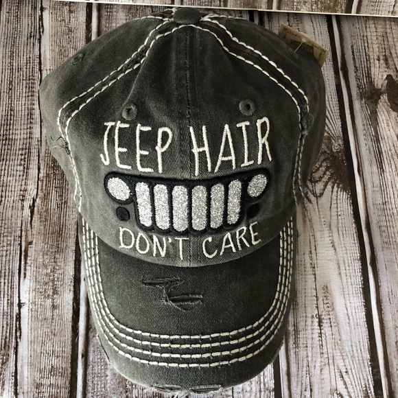 84c2ba02cc Accessories | Vintage Style Jeep Hair Dont Care Baseball Cap | Poshmark